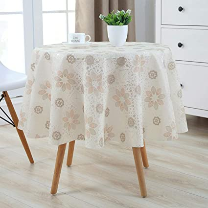Large Round Table Cloth.Amazon Com Slow Forest Lace Tablecloth Table Pvc Plastic Pad Large