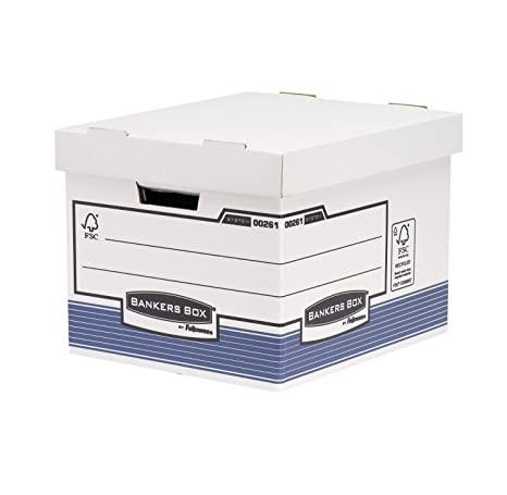 Bankers Box System - Contenedor de archivos automático, A4, azul