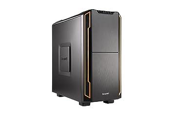 be quiet! Silent Base 600 Escritorio Naranja, Negro Carcasa de Ordenador - Caja de Ordenador (Escritorio, PC, ABS sintéticos, Nylon, Acero, ...
