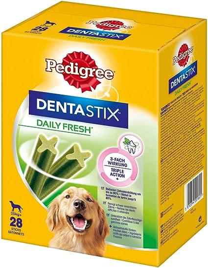 Pedigree Hundesnacks Hundeleckerli Dentastix Fresh für frischen Atem Maxi Tägliche Zahnpflege für große Hunde >25kg, 112 Stic