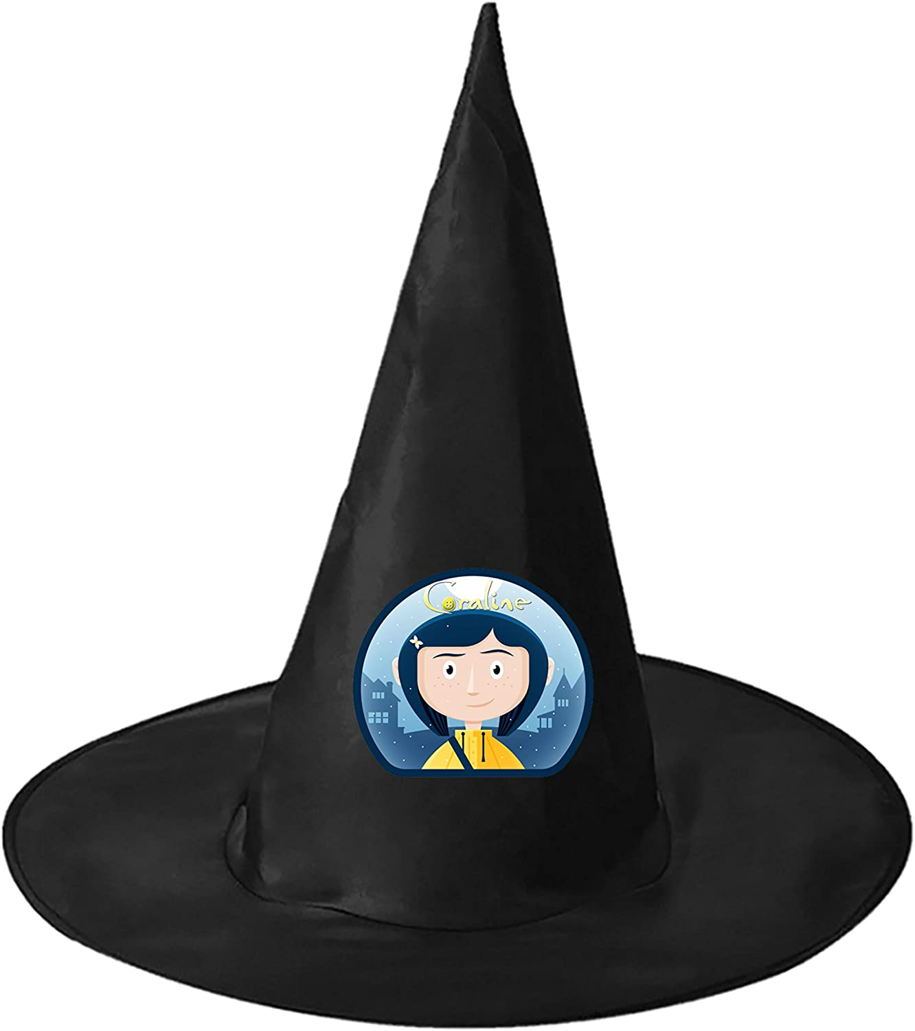 Zombie Mum Coraline Black Halloween Adult Kids Fabric Witch Hat Skull Wizard Cap Party Cosplay Magic Props Amazon Ca Clothing Accessories