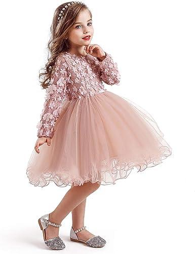 Toddler Kid Girl Formal Dresses Princess Party Layers Tutu Tulle Mini Lace Dress