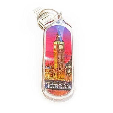 Llavero ovalado de acrílico con diseño de Big Ben Souvenir ...