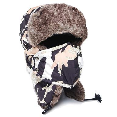 1dc04804c Winter Bomber Hats Men Women Russian Pilot Trapper Trooper Hat ...