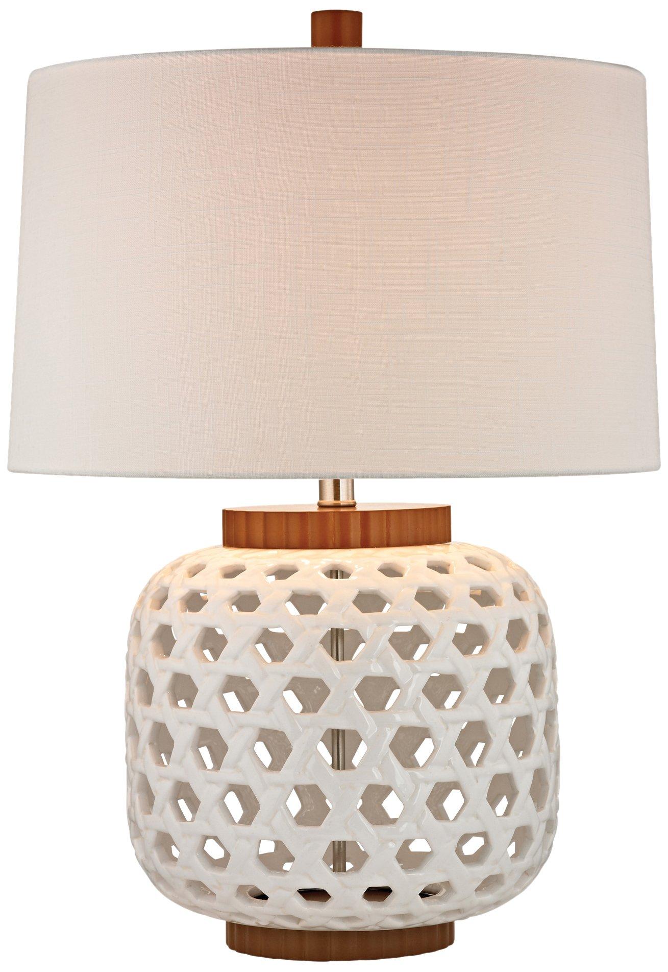 Dimond Lighting 26'' Woven Ceramic Table Lamp, White