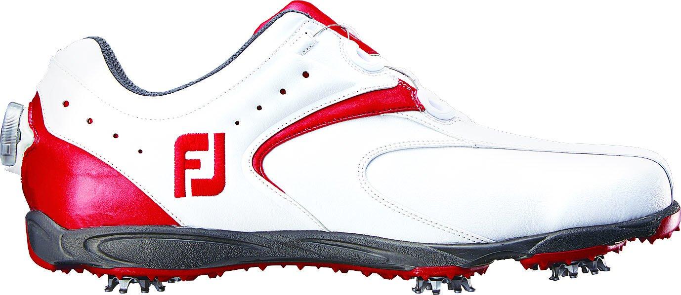 [フットジョイ] FootJoy ゴルフシューズ EXL Boa B013OCL6XK 24.5 cm Wide ホワイト/レッド2016モデル