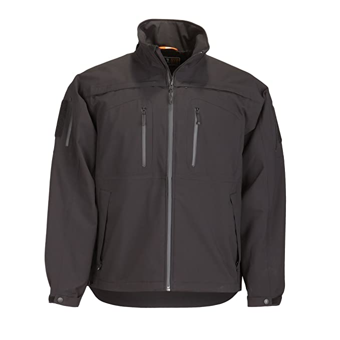 5.11 Tactical Mens Sabre 2.0 Jacket, Polyester Bonded Softshell and Detachable Hood, Style 48112