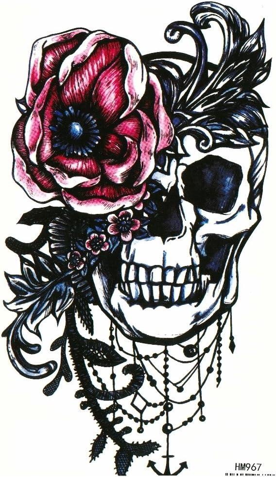 Just Fox – temporäres Tattoo Calavera Rosas Diseño con pegamento ...