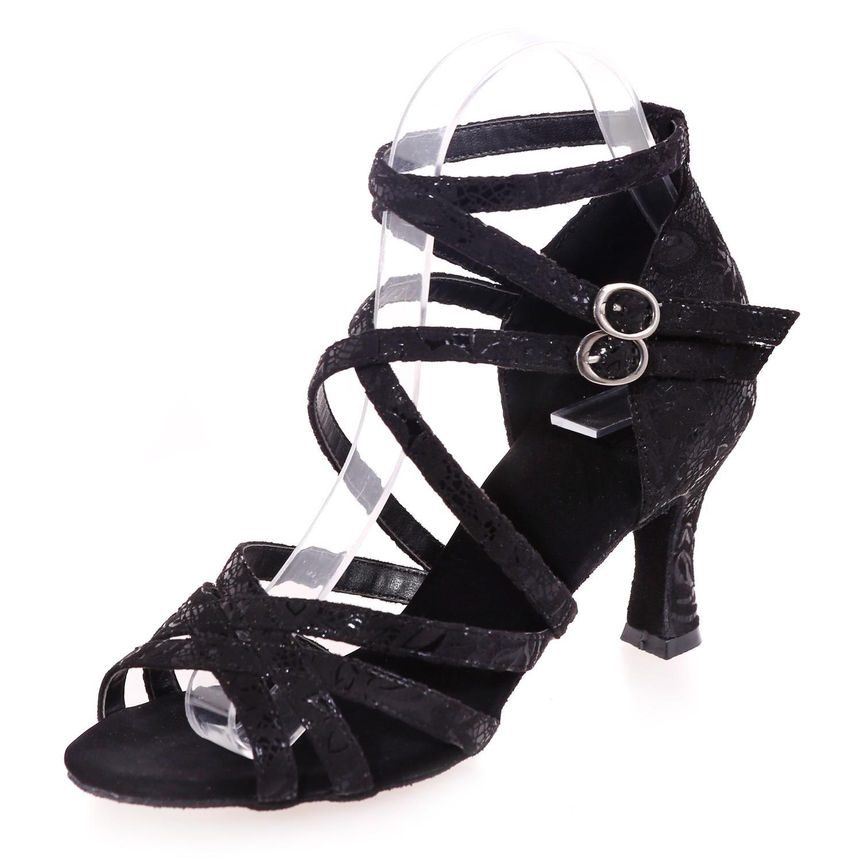 Weibliche Tanzschuhe Latin Kunstleder Schuhe High Heel 7,5 cm Multi-Farbe Large Yards B077DKN6CG Tanzschuhe Nicht so teuer
