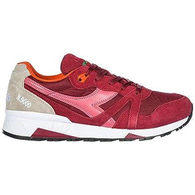 Diadora Heritage Zapatos Zapatillas de Deporte Hombres en Ante Nuevo N9000 III Rojo EU 42 501.171853: Amazon.es: Zapatos y complementos