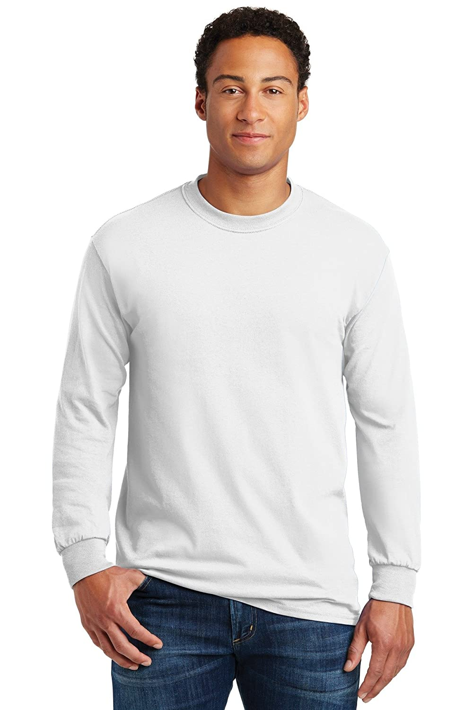 Style # G540 - Original Label White L - Gildan Adult 53 Oz Long-Sleeve T-Shirt
