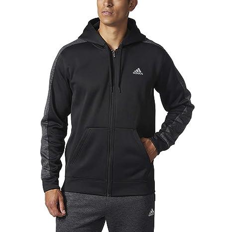 adidas Men's Tech Fleece Full Zip Hoodie (Black, Large)