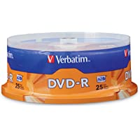 Verbatim 4.7GB up to 16x Recordable Disc DVD-R (25-Disc Spindle) 95058