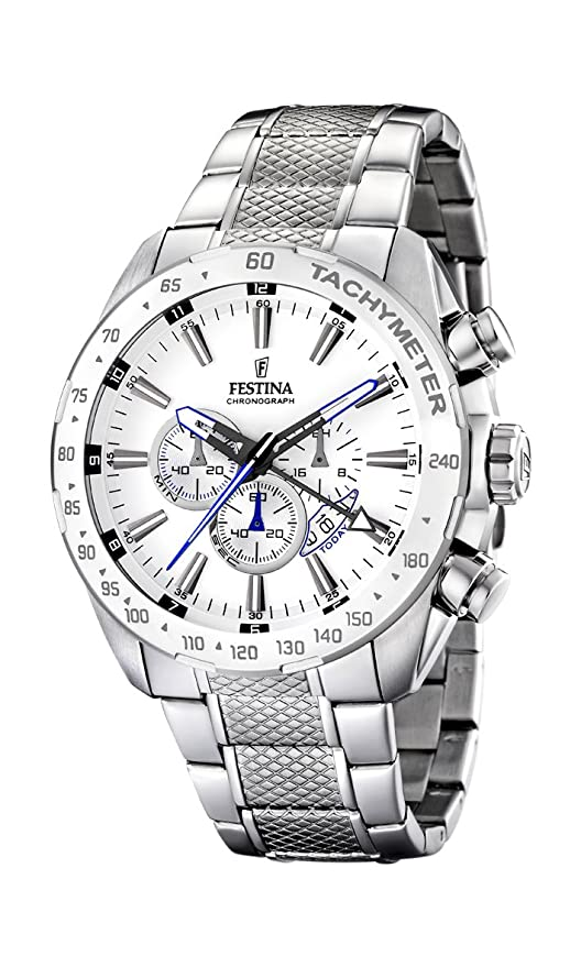 FESTINA F16488/1 - Reloj de Caballero de Cuarzo, Correa de Acero Inoxidable Color Plata: Festina: Amazon.es: Relojes