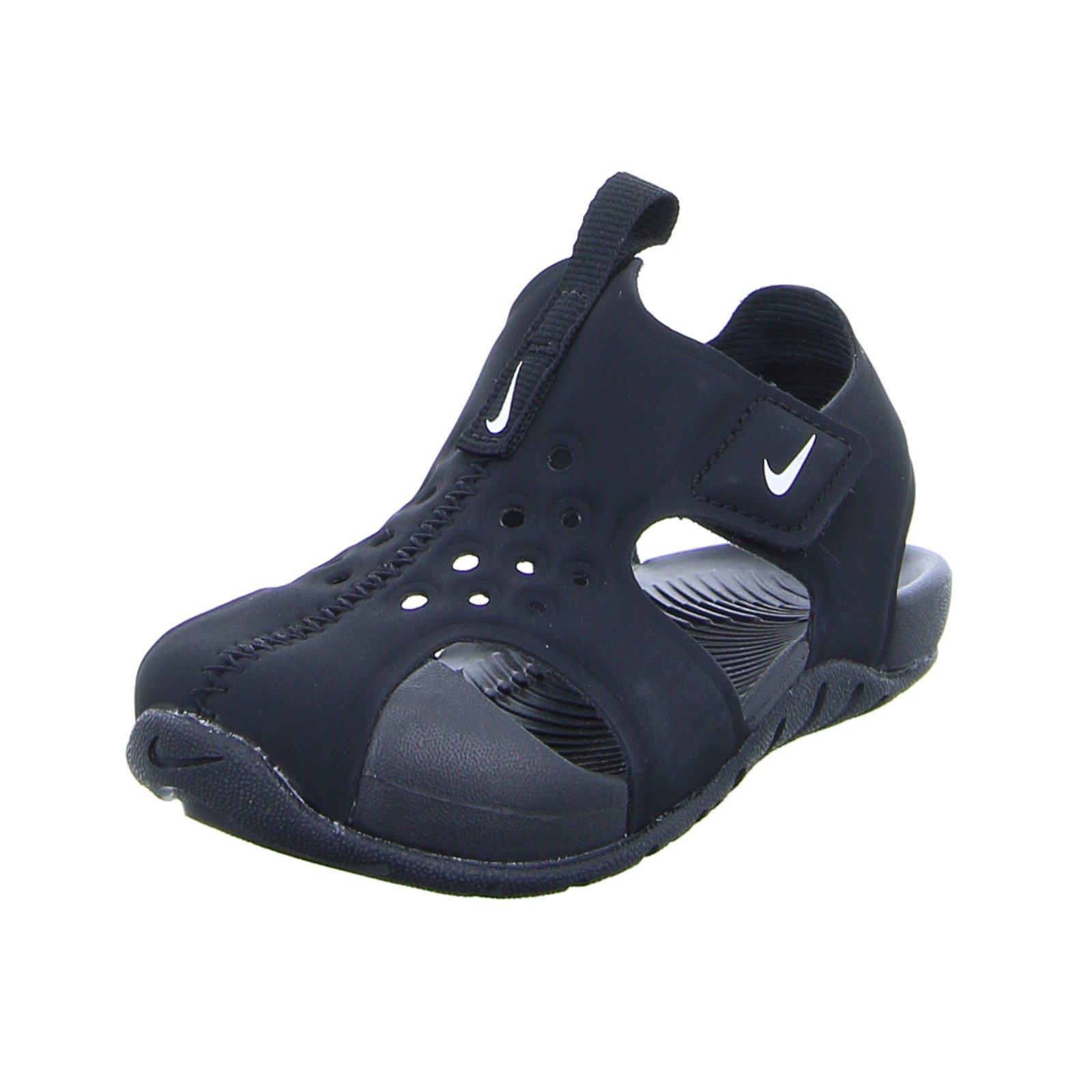 NIKE Toddler Sunray Protect 2 (TD) Black White Size 6