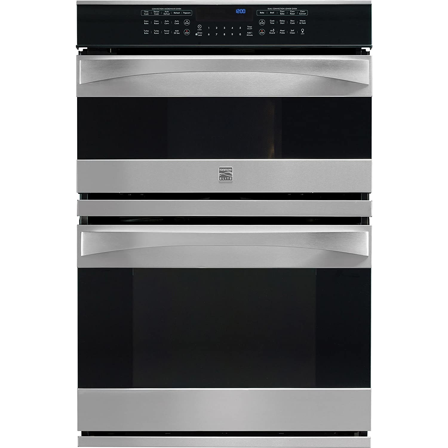 Kenmore Elite 49113 30' Electric Wall Oven/Microwave Combination in Stainless Steel, includes delivery and hookup (Available in select cities only) Sears Brands Management Corporation (Kenmore) 02249113