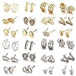 24 Pair/Set Nickel Free Earrings For Sensitive Ears
