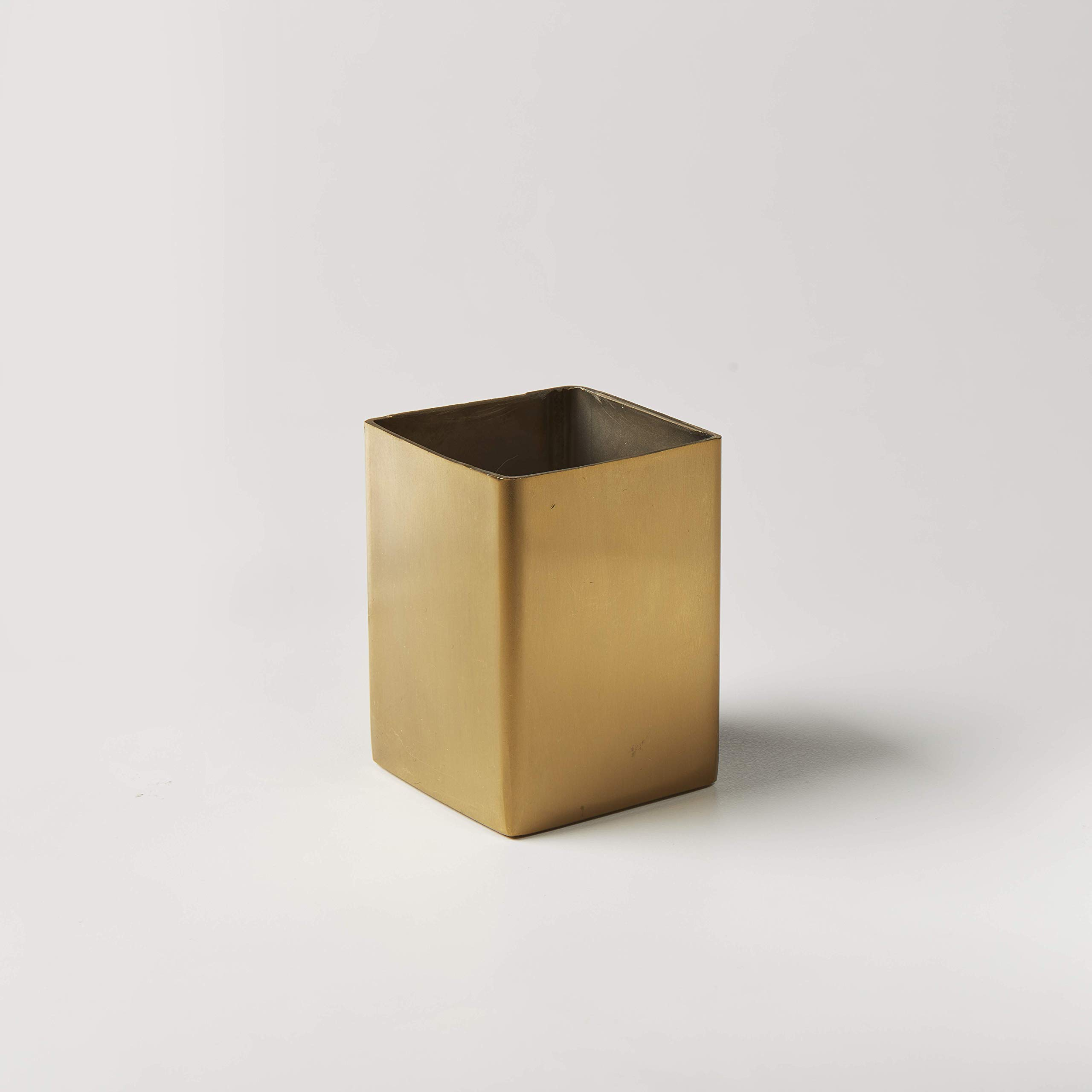 American Metalcraft GSPT5 Square Gold Sugar Packet Holder, Satin Finish, 2-Inches