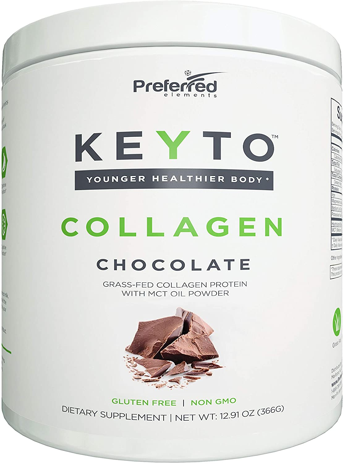Preferred Elements Keto Collagen Protein Powder with MCT Oil