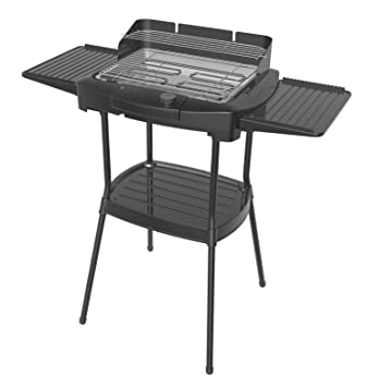 elekro – Parrilla para mesa stnad para barbacoa eléctrica parrilla Barbacoa 2000 W