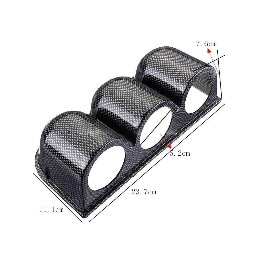 Supmico Kohlefaser 52mm Universal drei loch Gauge Pod Halter Halterung Bracket Instrumentenhalter