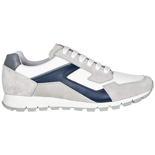 Prada Zapatillas Deportivas Hombre Bianco + Royal 45 EU: Amazon.es: Zapatos y complementos