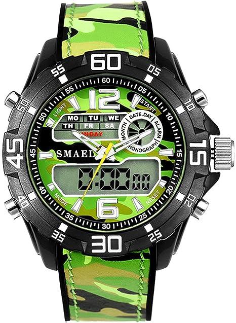 Blisfille Relojes Junior Deportivos Reloj Acero Negro Mujer Reloj para Rellenar Relojes Extraplanos Hombre Reloj Hombre Deportivo: Amazon.es: Deportes y aire libre