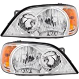 Driver and Passenger Composite Headlights Headlamps Replacement for Kia Van 0K52Y 51040A 0K52Y 51030A