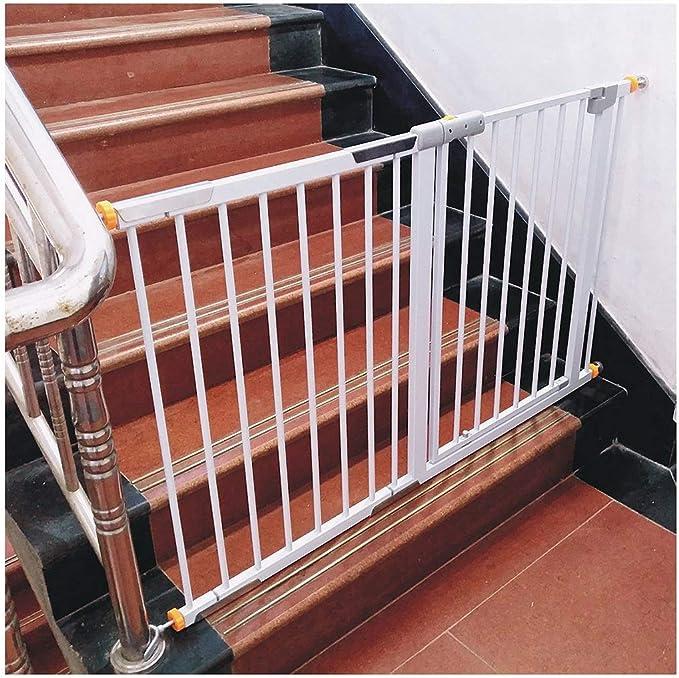 HFYAK Perro Mascota Puerta Escalera Metal - Cerca Parque Infantil con Cierre Automático Puerta Y Alto Bloqueado 78 Cm Tabique Ideal para Balcones Interiores Y Exteriores: Amazon.es: Hogar