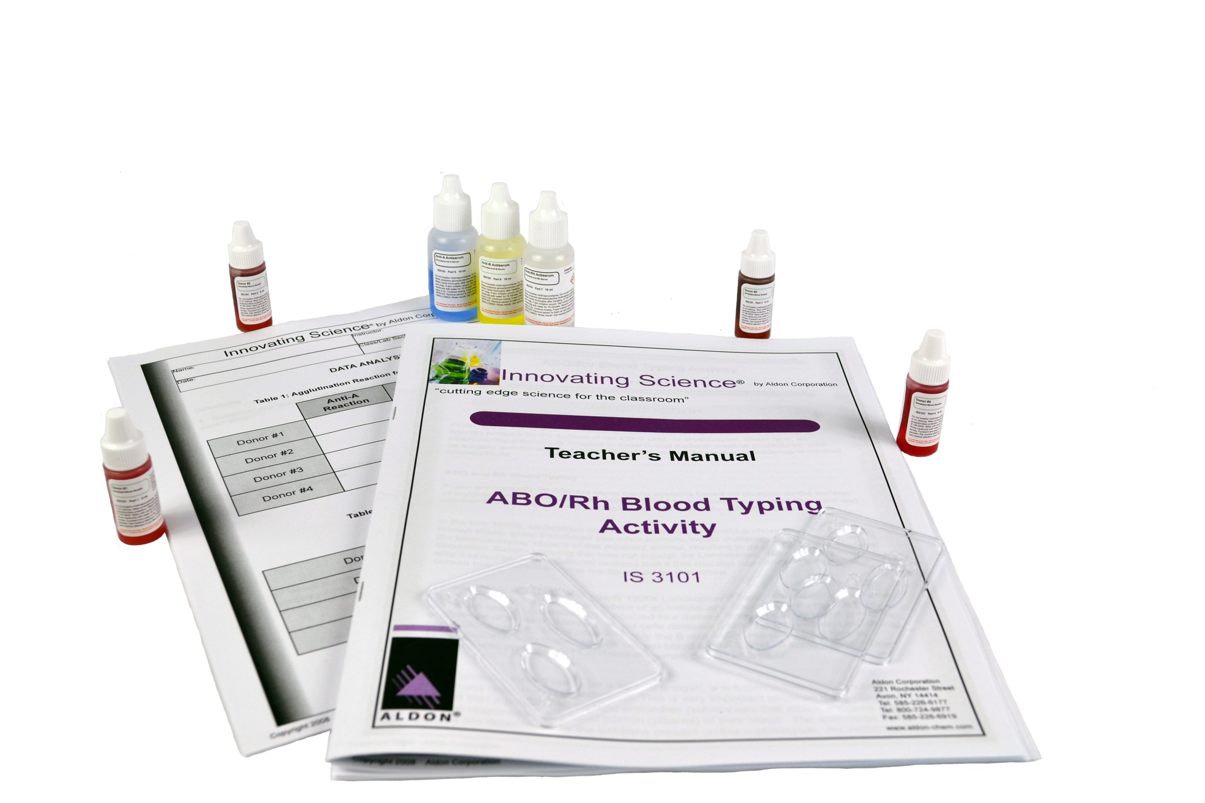 Innovating Science ABO/Rh Blood Typing Kit, IS3101 (Simulated Blood) by Innovating Science