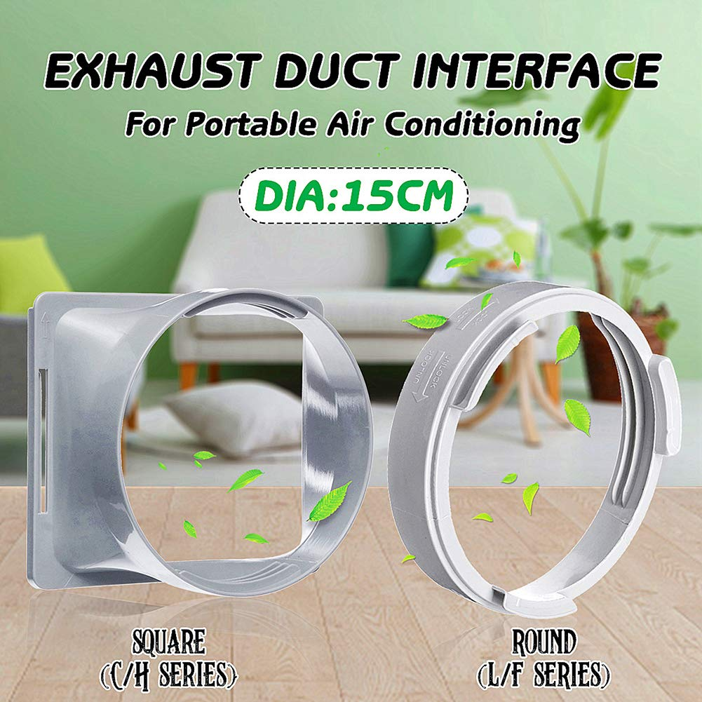 Maserfaliw Air Conditioner Interface 5.9 Dia Exhaust Duct Interface,L//F C//H Series for Portable Air Conditioner,Portable Air Conditioning Body Exhaust Duct Interface 1#