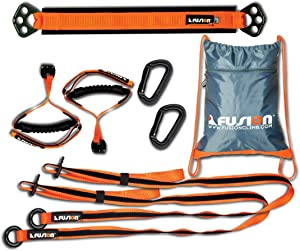 Fusion Climb PrestoX Fit 200, Full Portable Home Gym Workout Package Equipment for Home (Made in USA)