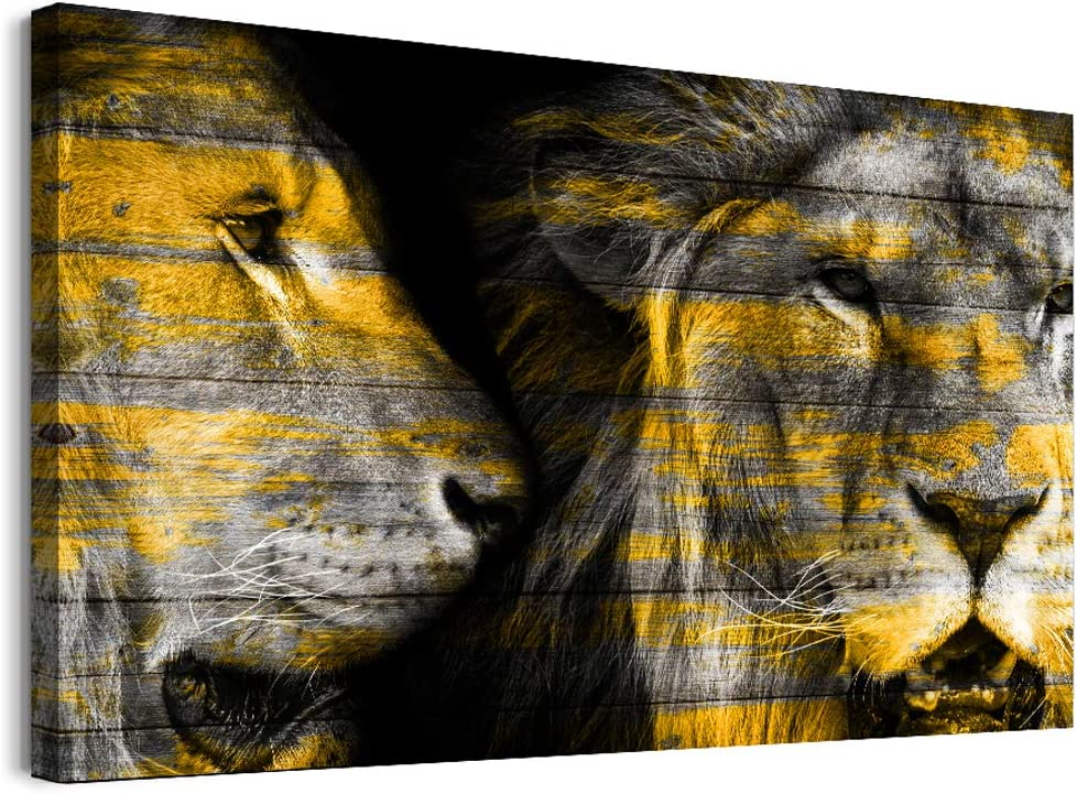 Family Bedroom Wall Decor Canvas Wall Art For Living Room Modern Wall Decorations For Bathroom Office Canvas Paintings Art Animals Abstract Lion Hang Wall Pictures Artwork Home Decoration 1 Piece