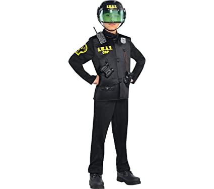 Amazon.com: Amscan Children\'s SWAT Officer Costume: Clothing