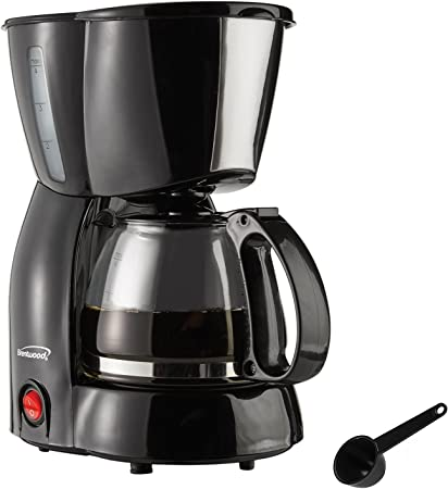 Brentwood Coffee Maker 4 Cup Black Kitchen Di