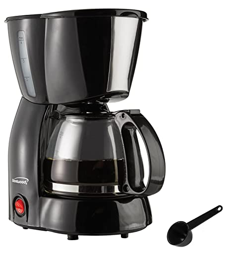 Amazon.com: Brentwood aparatos ts-213bk 4 Cup Coffee Maker ...