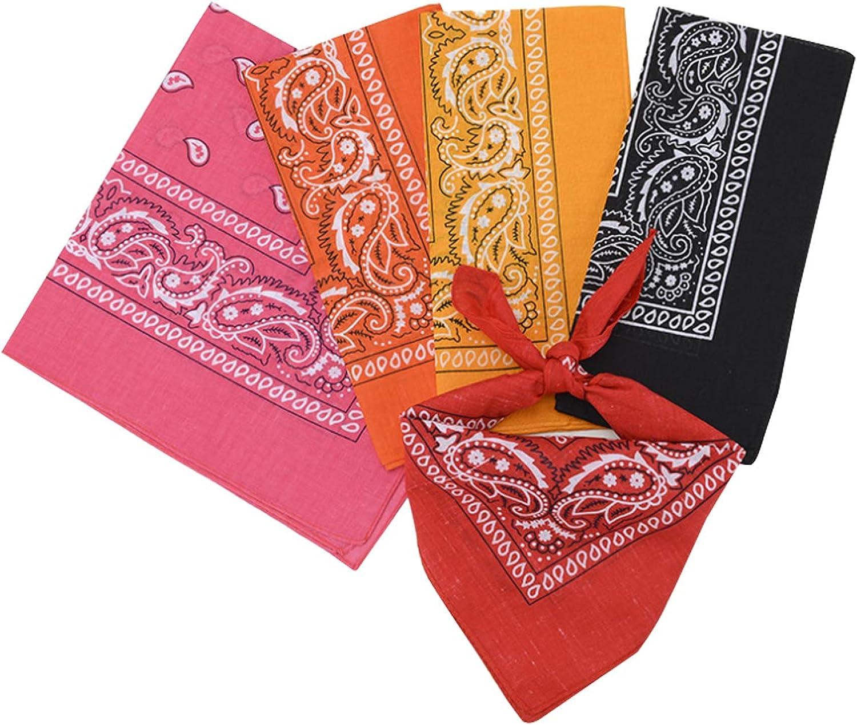 Bestgift Men Head Wrap Bandana Paisley Print Scarf Wristband