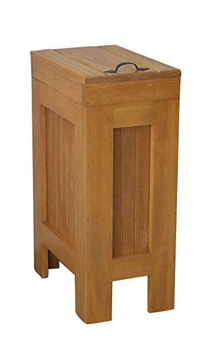 Amazon Com Wood Wooden Trash Bin Kitchen Garbage Can 13 Gallon