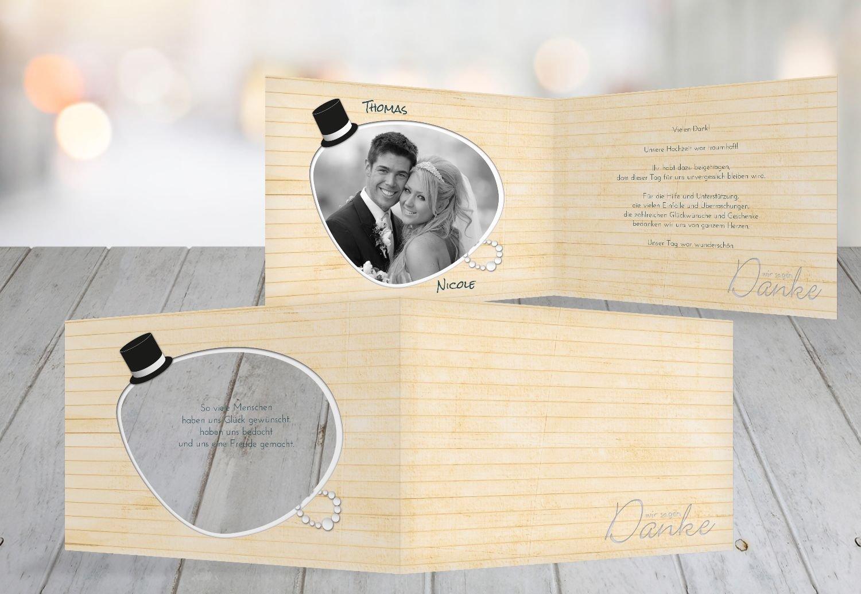 Kartenparadies Danksagung für Hochzeitsgeschenke Hochzeit Dankeskarte Kette Zylinder, hochwertige Danksagungskarte Hochzeitsglückwünsche inklusive Umschläge   10 Karten - (Format  148x105 mm) Farbe  Rosa B01N4QEZ2P | Elegante und robus