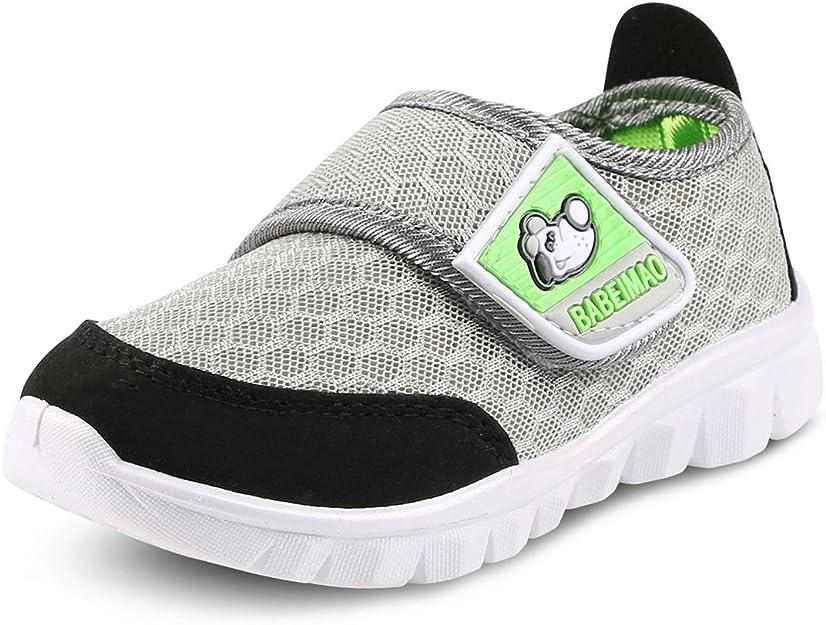 Mowoii Toddler Boys Girls Casual Canvas Sneakers Kids Lightweight Walking Shoes