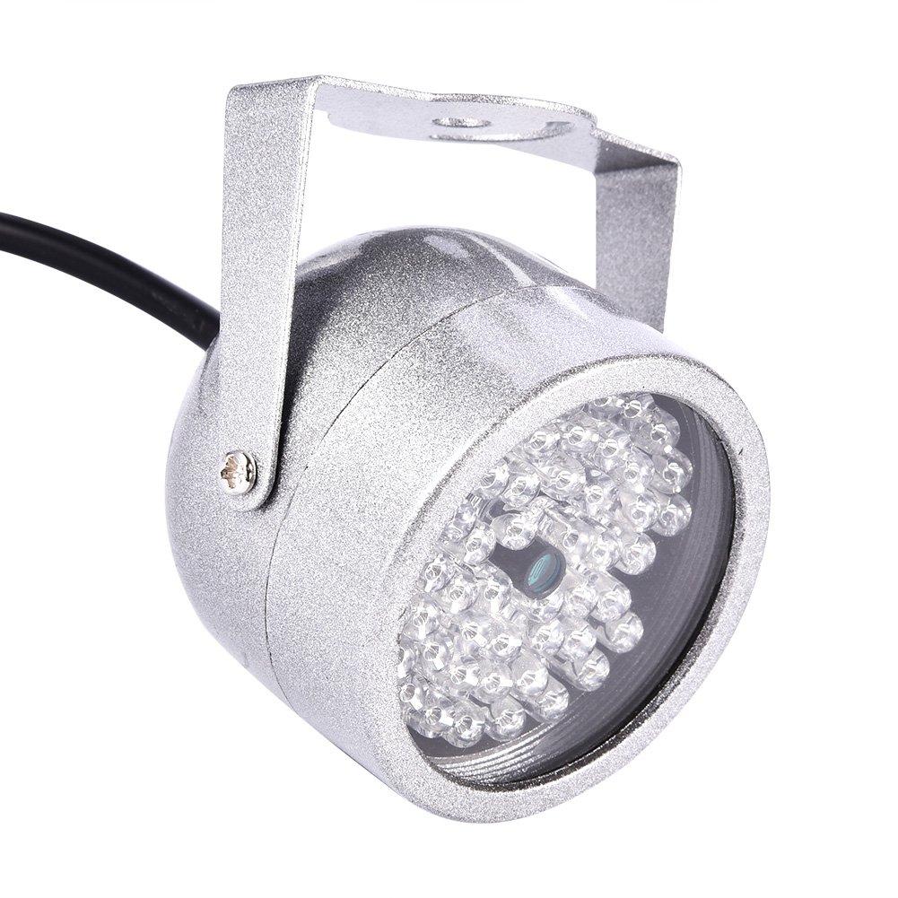 Zerone Camera IR Illuminator Lights, DC 12V 1A CCTV Ir Night Vision Illuminator Camera 48 LED Waterproof Replacement for Electronic Police Snapshot System, Traffic Junctions by Zerone