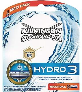 Wilkinson Hydro3 - Maquinilla de afeitar, cabezal con 3 cuchillas ...