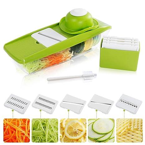 Amazon.com: lifewit Mandolina Slicer Cortador de verduras ...