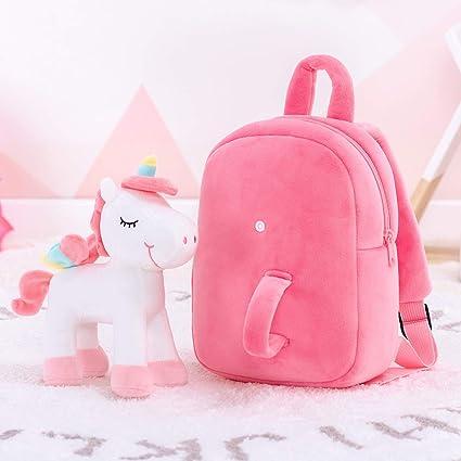 Lazada Unicorn Backpack Toddler Girls Backpack Plush Bag for Girl 11 Inches Pink