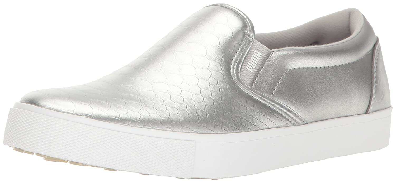 PUMA Women's Tustin Slip-on Golf-Shoes B01MTJ54OA 5.5 B(M) US|Puma Silver-puma White