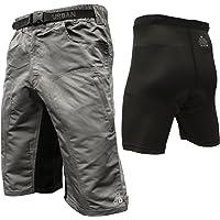 The Enduro - Men's MTB Off Road Cycling Shorts Bundle ClickFast Padded Undershorts Coolmax Technology