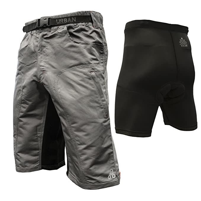 The Enduro - Men's MTB Off Road Cycling Shorts Bundle with ClickFast Padded Undershorts with Coolmax Technology
