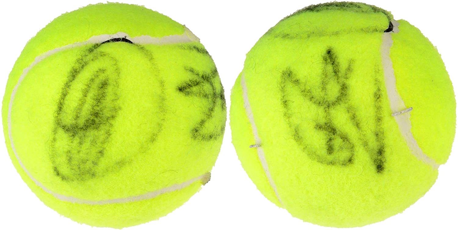 Rafael Nadal, Novak Djokovic Dual Signed Penn Red Logo Tennis Ball - Fanatics Authentic Certified - Autographed Tennis Balls