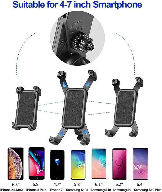 Samsung 360/°Rotaci/ón Soporte,M/óvil Bicicleta Monta/ña,Soporte M/óvil para Bicicletas para iPhone OVAREO Soporte M/óvil Bicicleta Huawei /& Xiaomi Todas Tel/éfonos 4-6