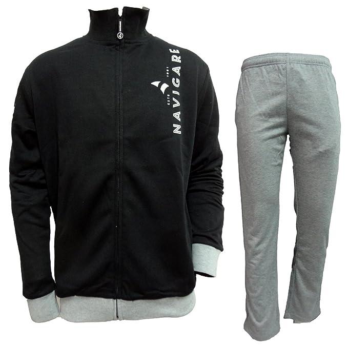 Tuta Uomo Full Zip in Cotone garzato Navigare Sportswear Art. 28260   Amazon.it  Abbigliamento 5945a0378ec